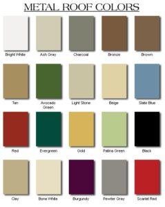 Metal Roofing Colors